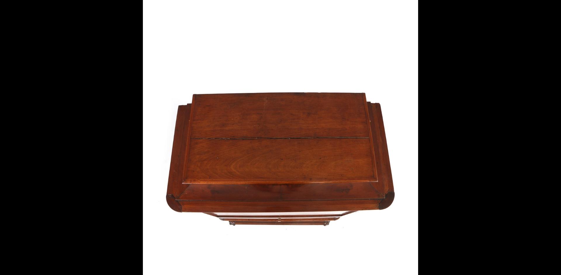 19th C. mahogany and rosewood Biedermeier secretaire chest 155 cm H x 98 cm W x 50 cm D - Image 3 of 3