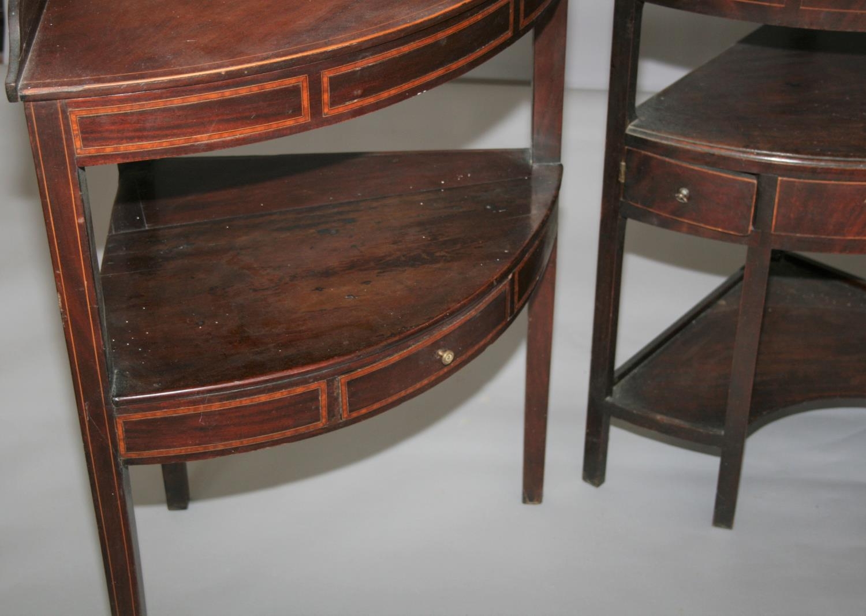 Three Georgian corner wash stands. 70W x 85H x 50D - Image 2 of 5