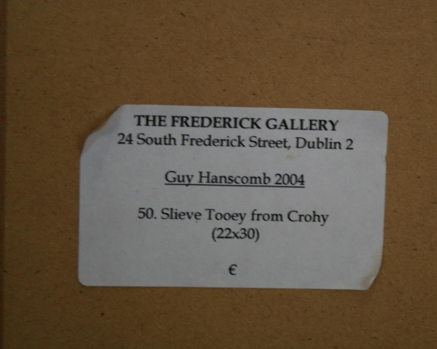 Guy Hanscomb 2004 oil on canvas - Slieve Tooey from Crohy. 78W x 57H - Image 3 of 3