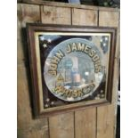 John Jameson Irish Whiskey advertising mirror.