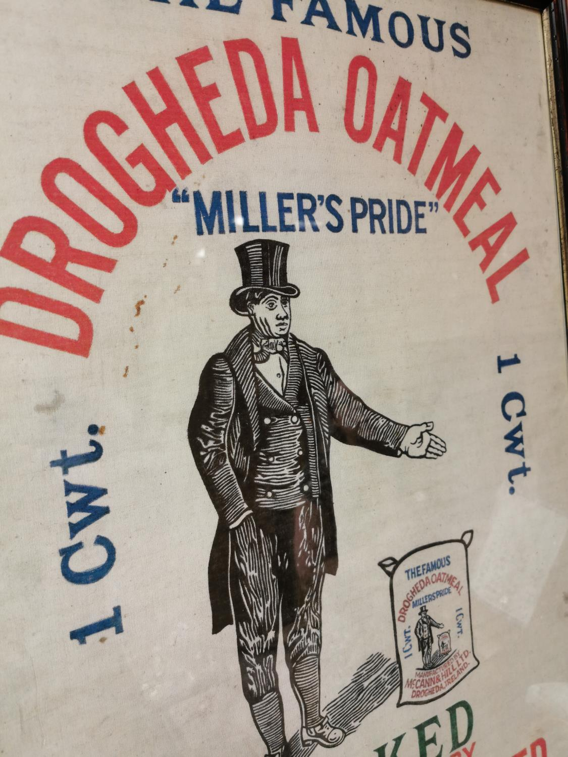 The Famous Drogheda Oatmill advertising cloth. - Image 2 of 2