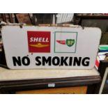 Shell and BP No Smoking advertising sign.