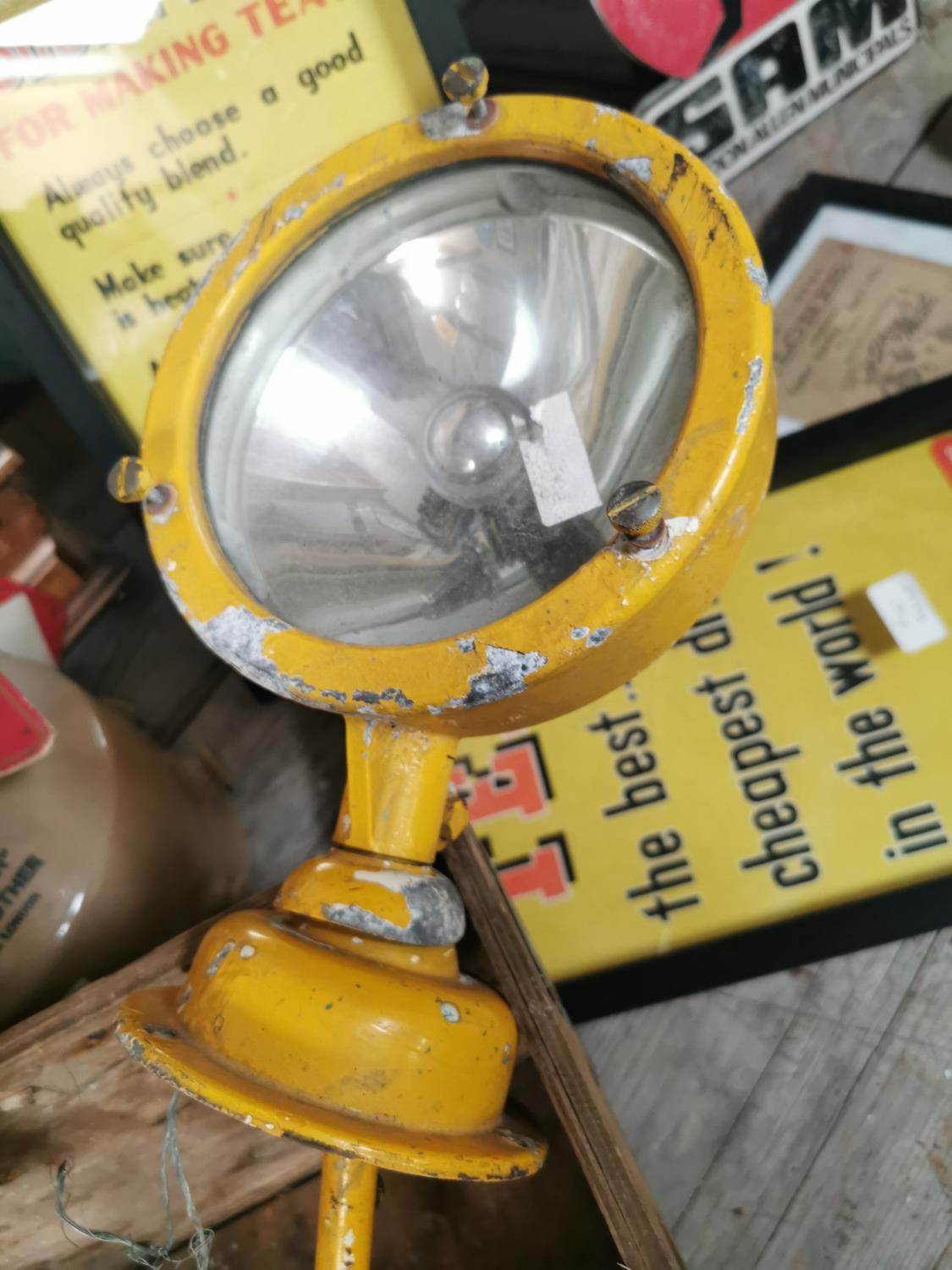 1950's Alloy search lamp. - Image 3 of 3