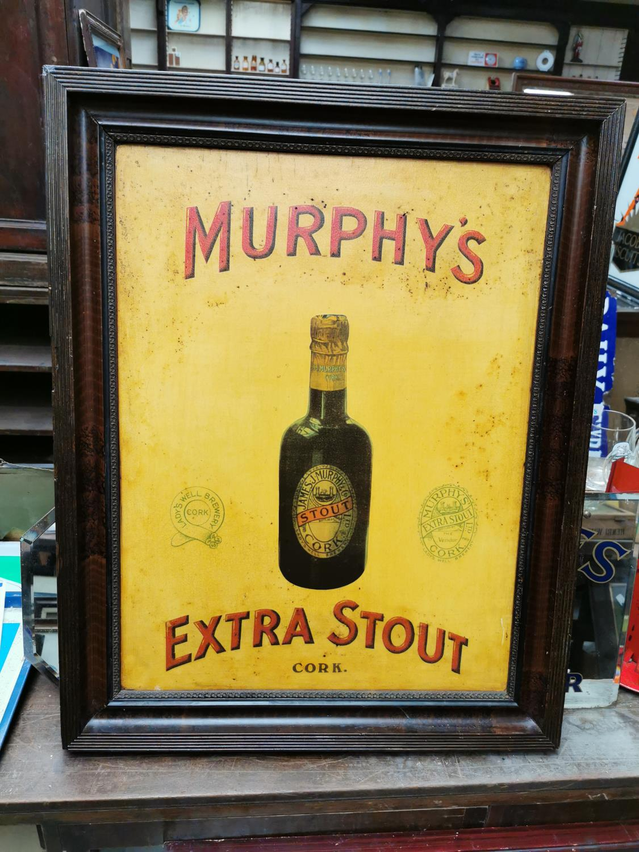 Murphy's Extra Stout Cork advertising sign.