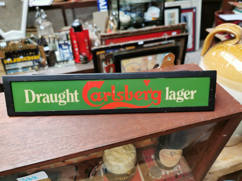 Draught Carlsberg light up advertising sign. - Image 2 of 2