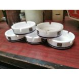 Five Silk Cut advertising ashtrays