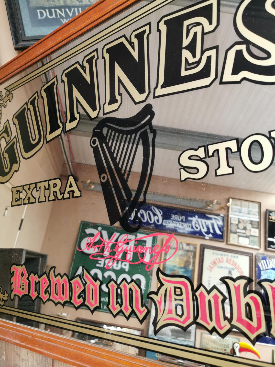 Guinness Extra Stout advertising mirror. - Image 2 of 2