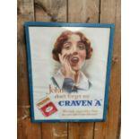 Craven A cigarettes advertising sign.