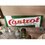 Castrol Motor Oil enamel advertising sign.