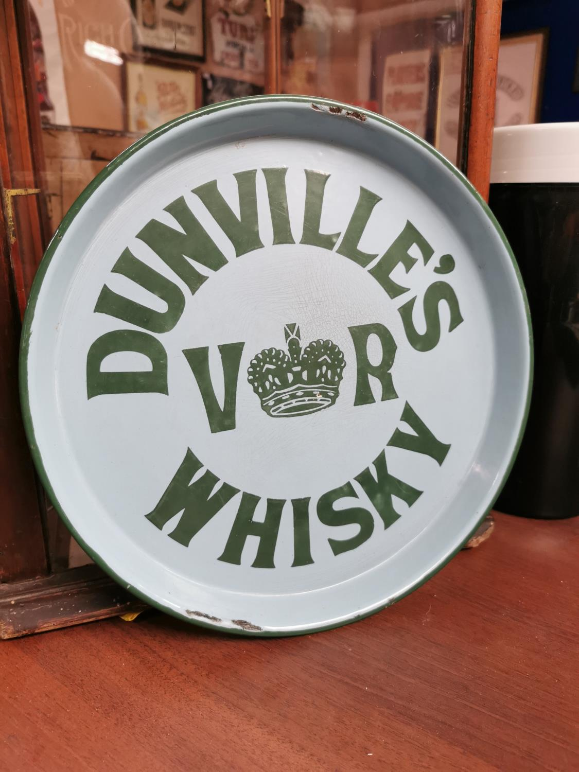 Dunville's VR Whiskey advertising tray.