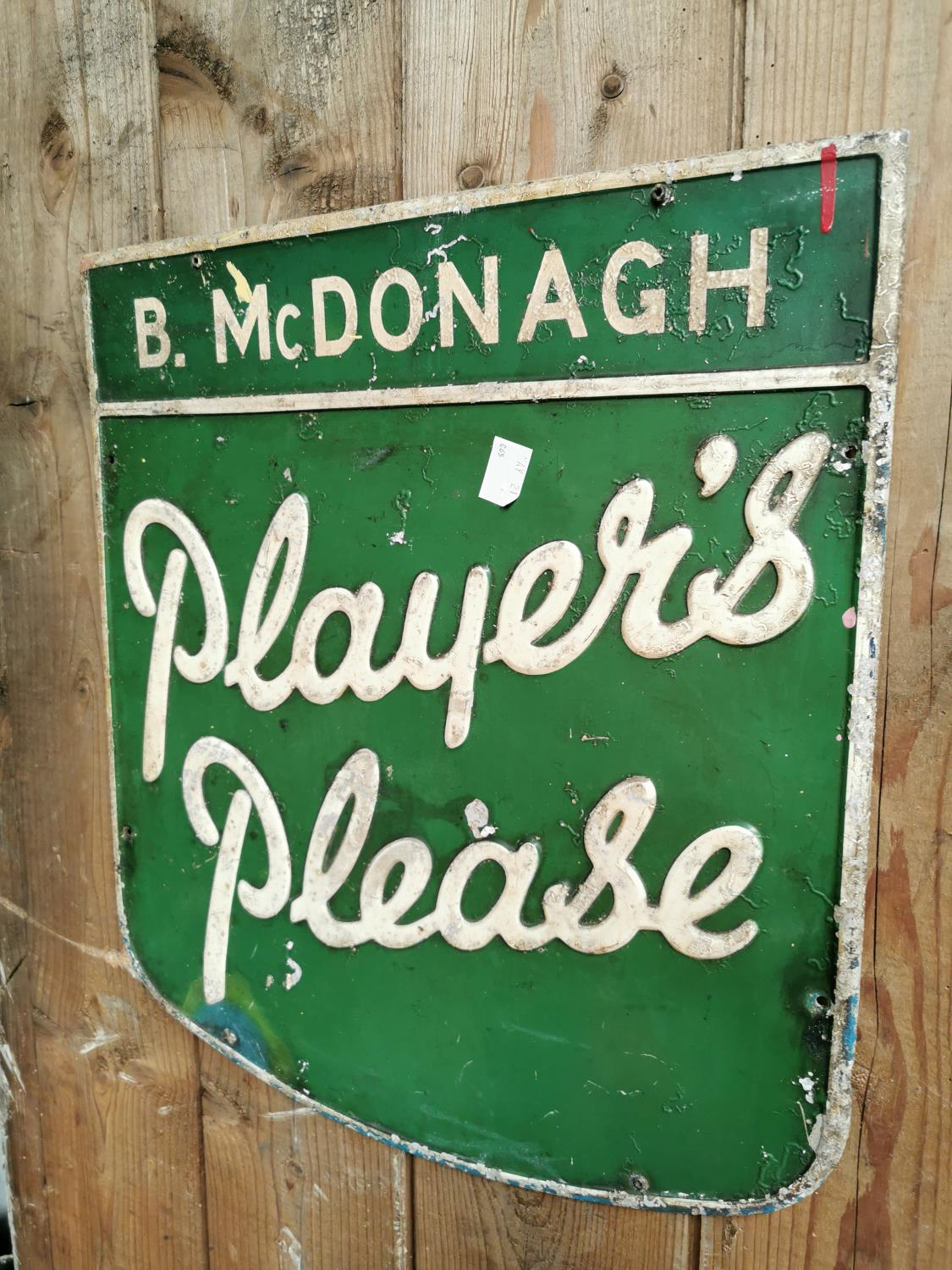 Players Please alloy advertising sign. - Image 2 of 2