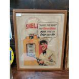 Shell Petrol framed advertising prin.