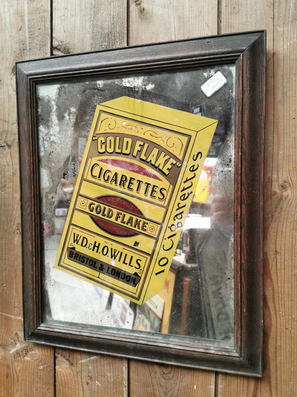 Will's Gold Flake advertising mirror.