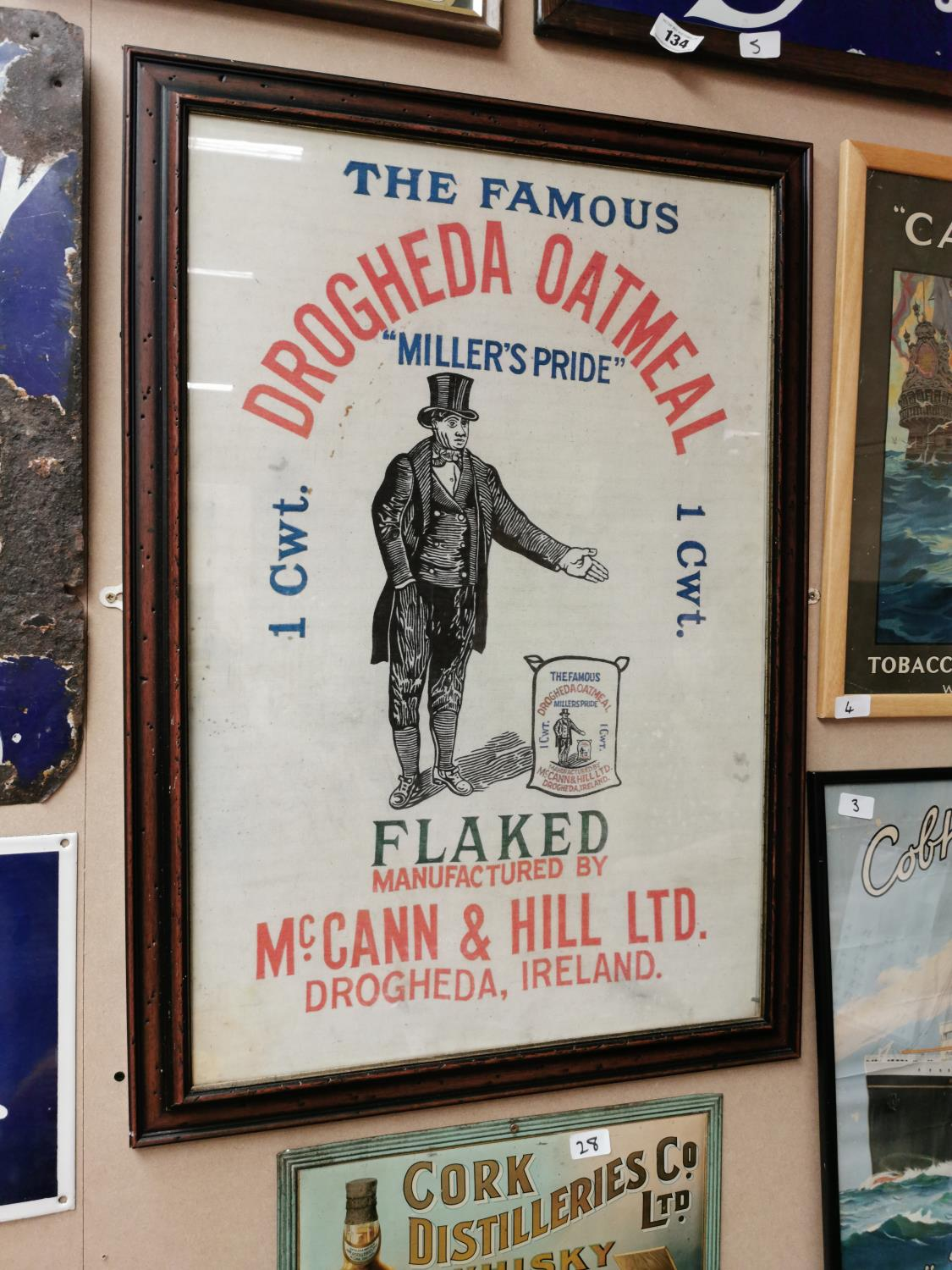 The Famous Drogheda Oatmill advertising cloth.