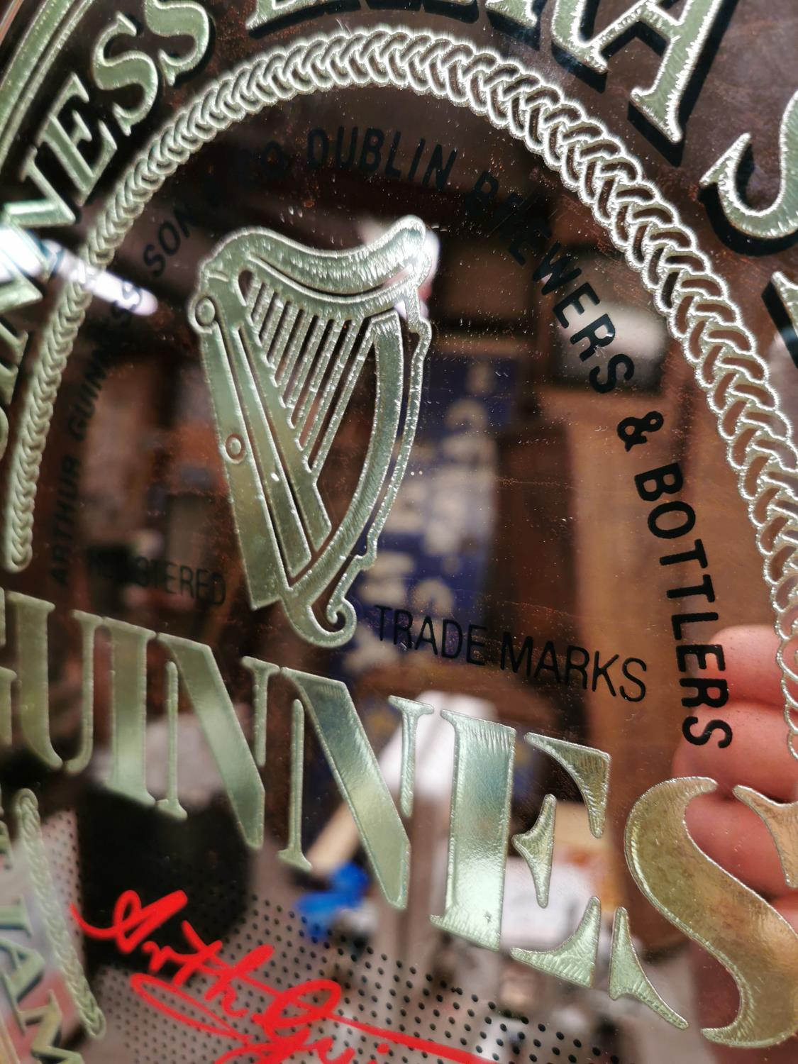 Guinness St. James Gate advertising mirror. - Image 2 of 2