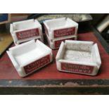 Six Carrolls No. 1 advertising ashtrays.