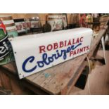 Robbialac Paints light up advertising sign