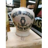 Wicklow Distillery Old Irish Whiskey flagon.
