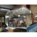Schweppes Irish Table Water advertising mirror.