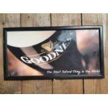 Guinness Goodness advertising sign.