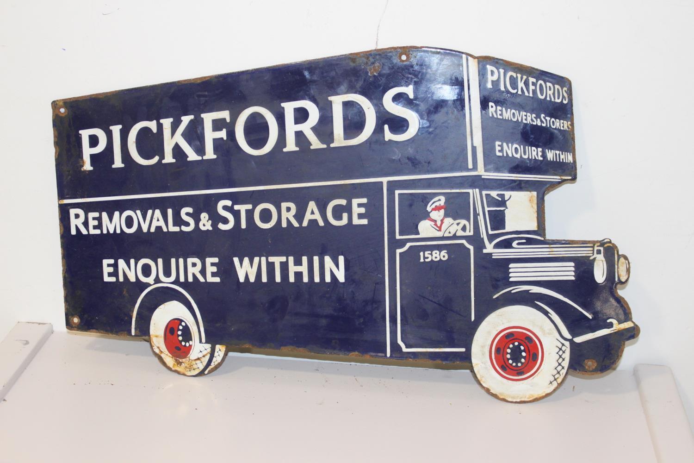 Pickfords Removals & Storage advertising sign.