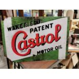 Wakefield Castrol Oil advertising sign.