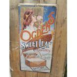 Ogden's Sweet Leaf Cigarettes advertising print