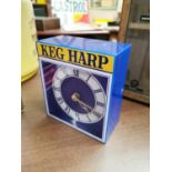 Harp Keg Perspex advertising clock.