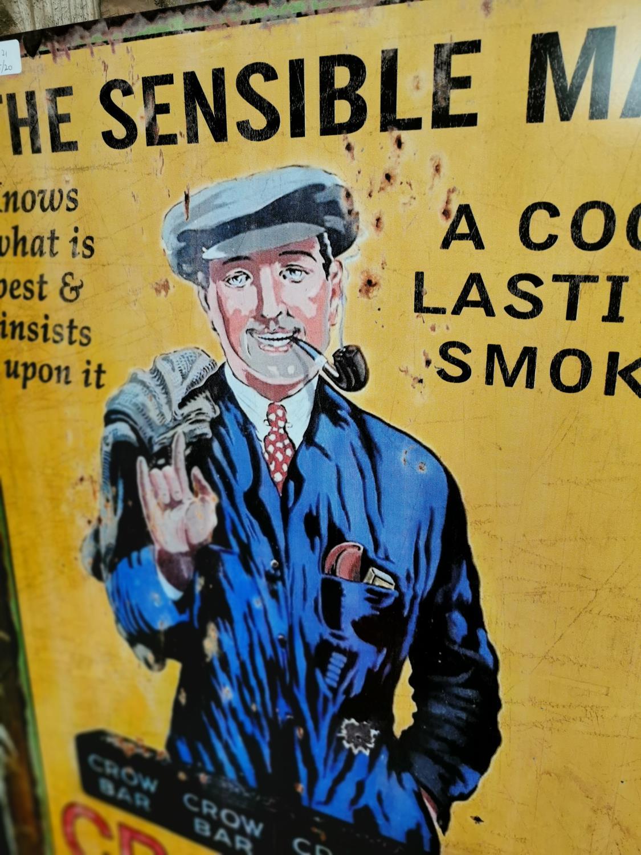 The Sensible Man tobacco advertising sign. - Image 2 of 2