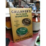Gallaher's tin plate advertising sign.