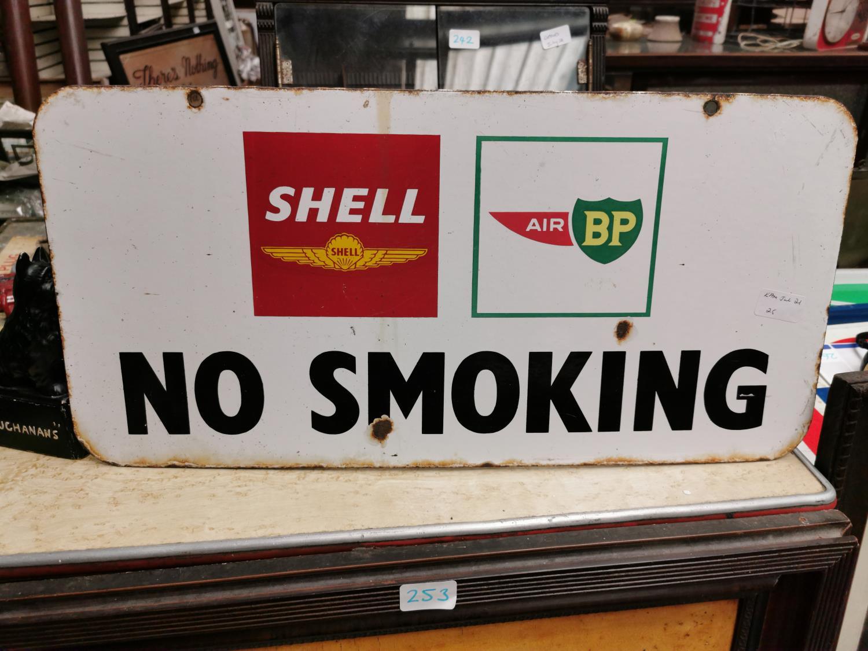 Shell and BP No Smoking advertising sign. - Image 2 of 2
