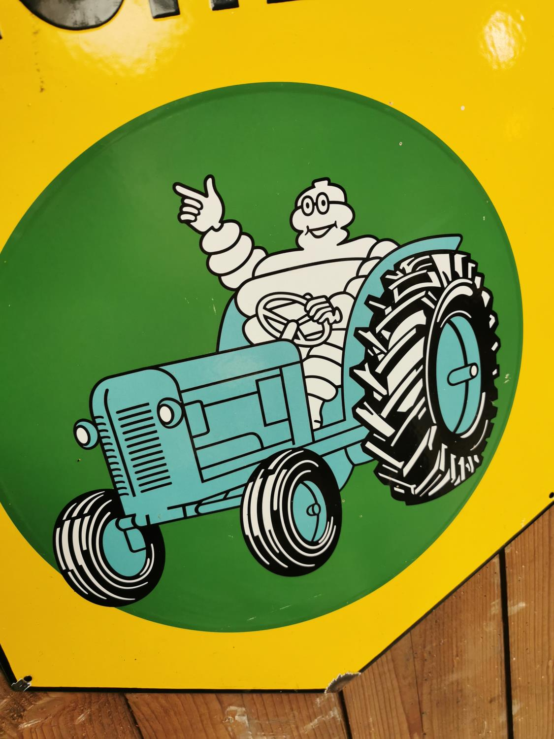 Michelin enamel advertising sign. - Image 2 of 2