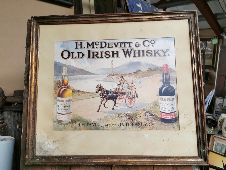 H. McDevitt & Co. Irish Whiskey advertising print.