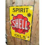 Spirit Shell Oil advertising sign.