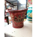 Coca Cola advertising ice bucket.