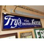 Fry's Cocoa framed advertising sign.