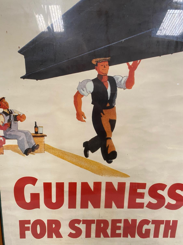 Guinness For Strength framed advertising print { 80cm H X 55cm W }. - Image 2 of 2