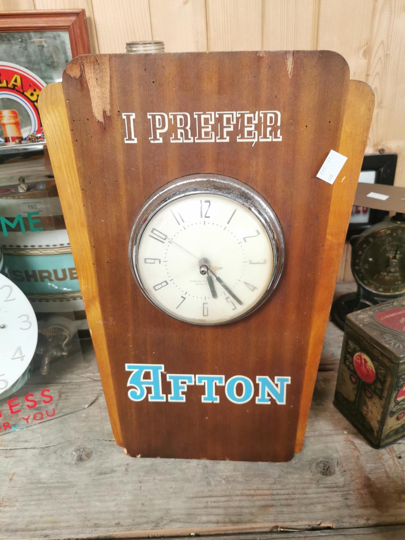 I Prefer Afton wooden advertising clock. - Image 2 of 2