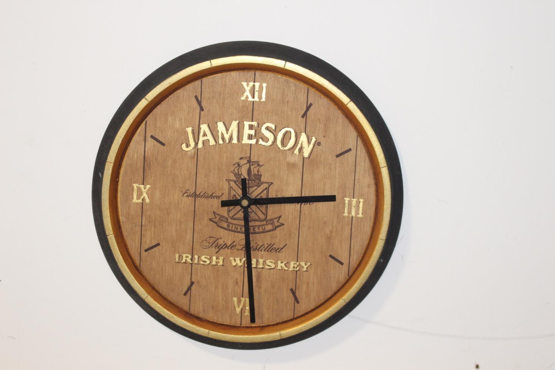 Jameson Irish Whiskey advertising clock.