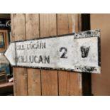 Killucan bi-lingual road sign.