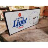 Rare Guinness Light Perspex advertising clock.
