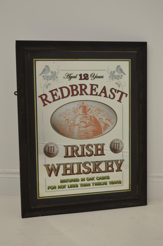 Red Brest Irish Whiskey advertising mirror.