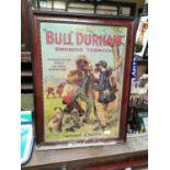 Bull Durham Tobacco advertising showcard.