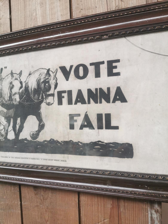 Vote Fianna Fail framed advertising print - Image 3 of 3