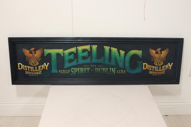 Teeling whiskey advertising sign.