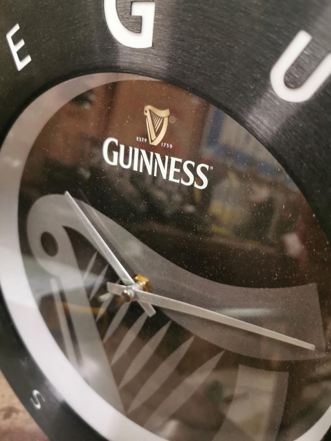 Guinness Time metal advertising clock. - Image 2 of 2
