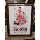 Jacob's Biscuit and Cakes advertising print.