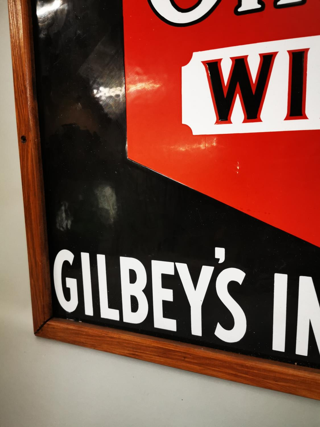 Gilbey's Wine and Port advertising sign. - Image 4 of 4