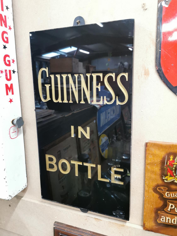 Guinness in Bottle slate advertising sign.