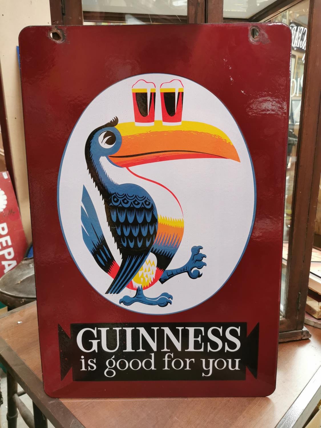 Guinness Is Good For You toucan advertising sign.